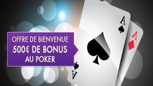 Le bonus JOA poker de 500 euros