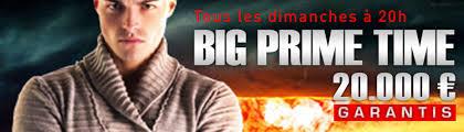 Tournoi Big Prime Time 20 000 € garantis sur MyJoaPok