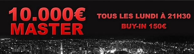 tournoi 10 000 € master le lundi sur My Joa Pok