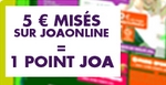 Avantage points sur JOA