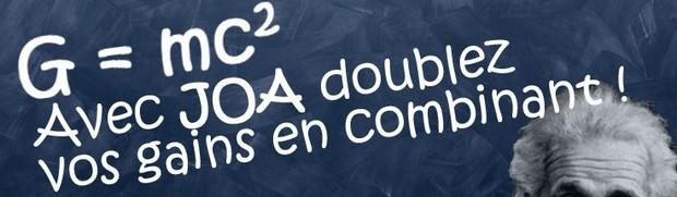 L'offre paris combinés de JOA Sport