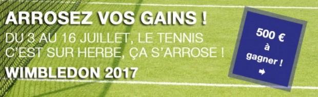 500€ mis en jeu par JOA Sport sur le Grand Chelem de Wimbledon
