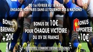 10€ offerts à chaque victoire française par JOA pour le Tournoi des 6 Nations