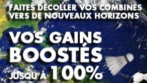 Jusqu'à 100% de boost de vos gains sur JOA pour vos paris combinés