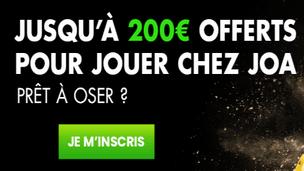 200€ offerts sur JOA Turf