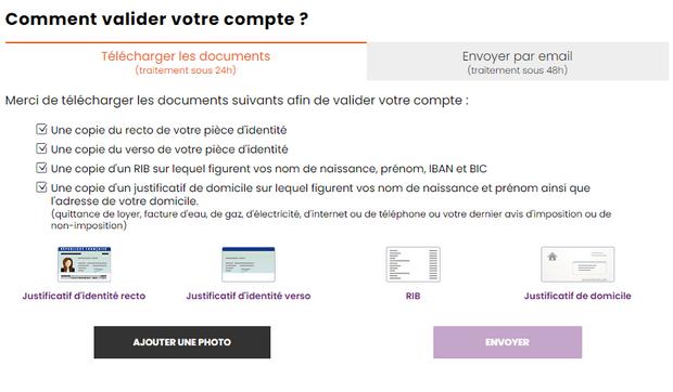 Inscription sur JOABet.fr
